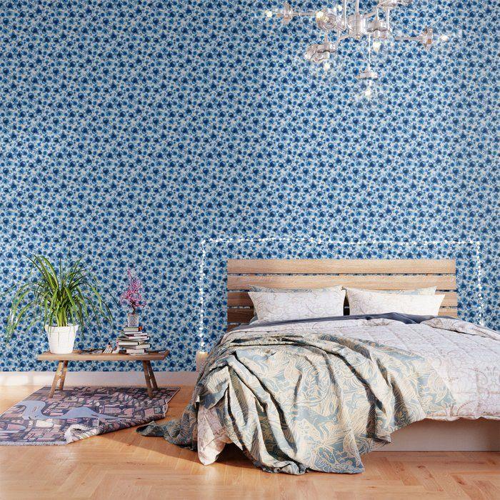 12 Inspiring Boho Living Room Ideas That Are Full Of Design Inspo Peel And Stick Wallpaper Pattern Wallpaper Oriental Wallpaper