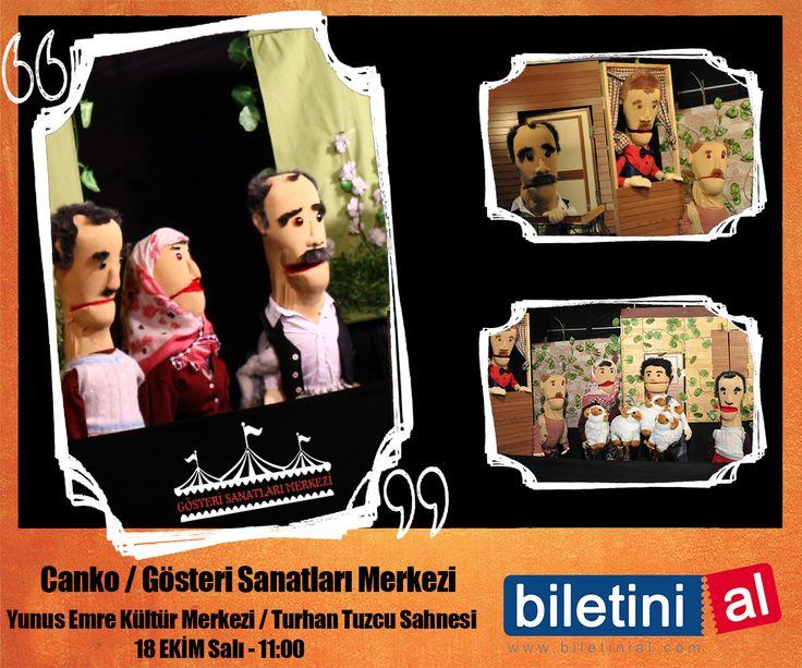 Dünyanın en renkli ve başarılı kukla oyunlarını her yıl İstanbul'da bir araya getiren, İstanbul'un en köklü festivallerinden Uluslararası İstanbul Kukla Festivali, 18 Ekim tarihlerinde Canko oyunuyla sizlerle. Biletleri satışta! https://www.biletinial.com/tiyatro/canko-864730