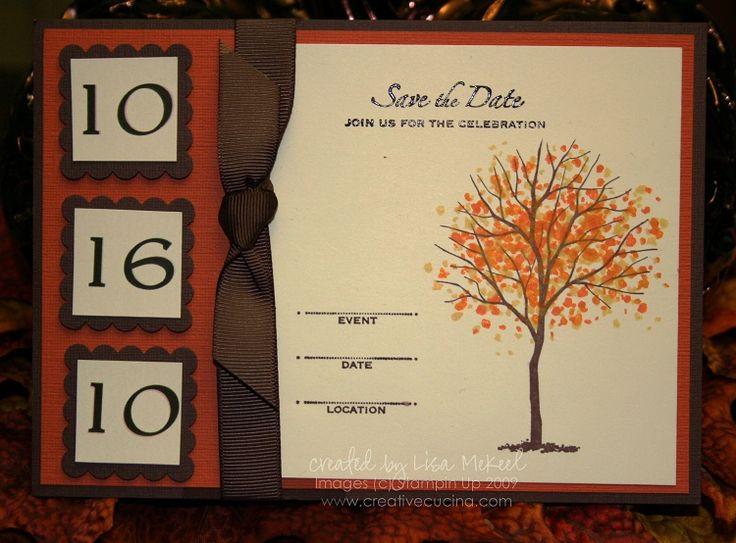 Fall Wedding Invitations | Autumn Wedding Invitations (creative Cucina)