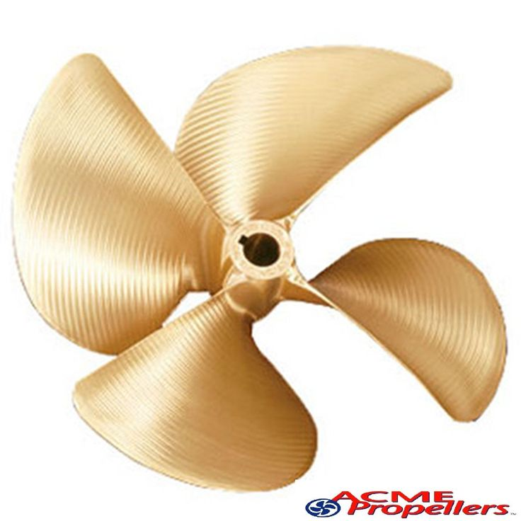 """Acme 14 x 14.25 Inboard Propeller Left Hand Nibral Cupped 1 1/8"""" Bore 4 Blade"""