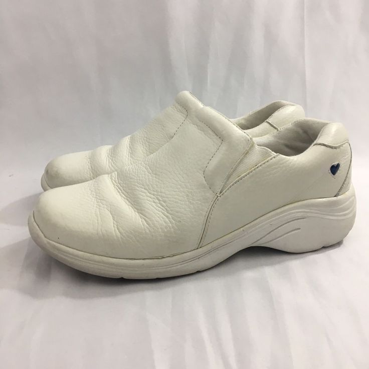 Nurse Mates Shoes Womens Size 8W White Leather Occupational Comfort  | eBay