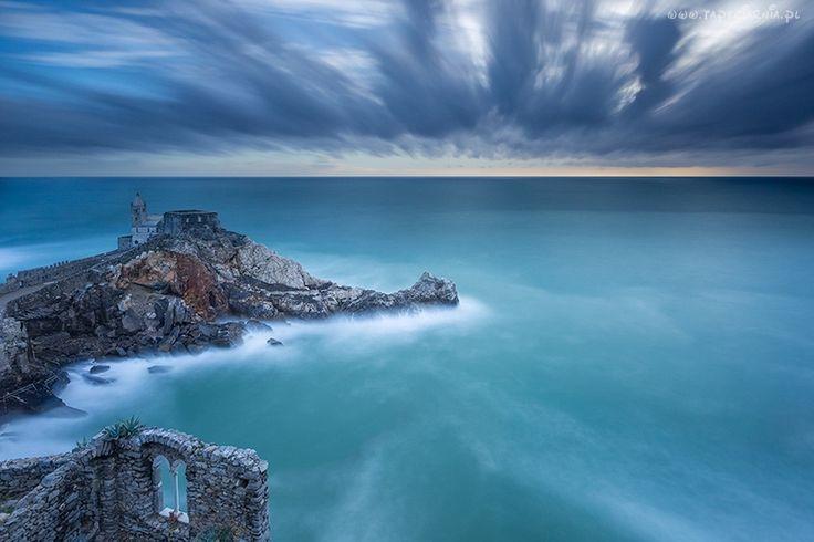 Niebo, Morze, Ruiny, Skała