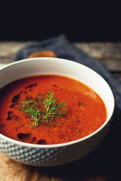 tomato fennel soup + 4 other delicious recipes in this week's Fall vegetarian meal plan | Rainbow Delicious