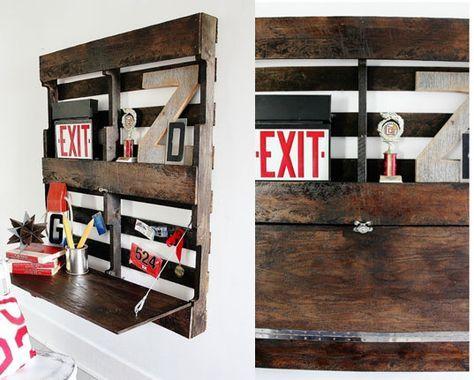 Si necesitas un escritorio abatible que ocupe poco y cueste menos, echa un vistazo a este trabajo. www.reciclatusmuebles.com