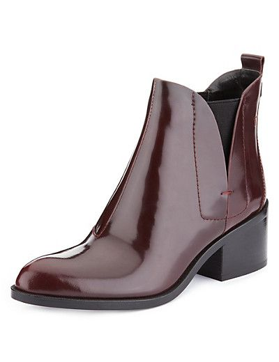 Leather Chelsea Boots with Insolia® Clothing