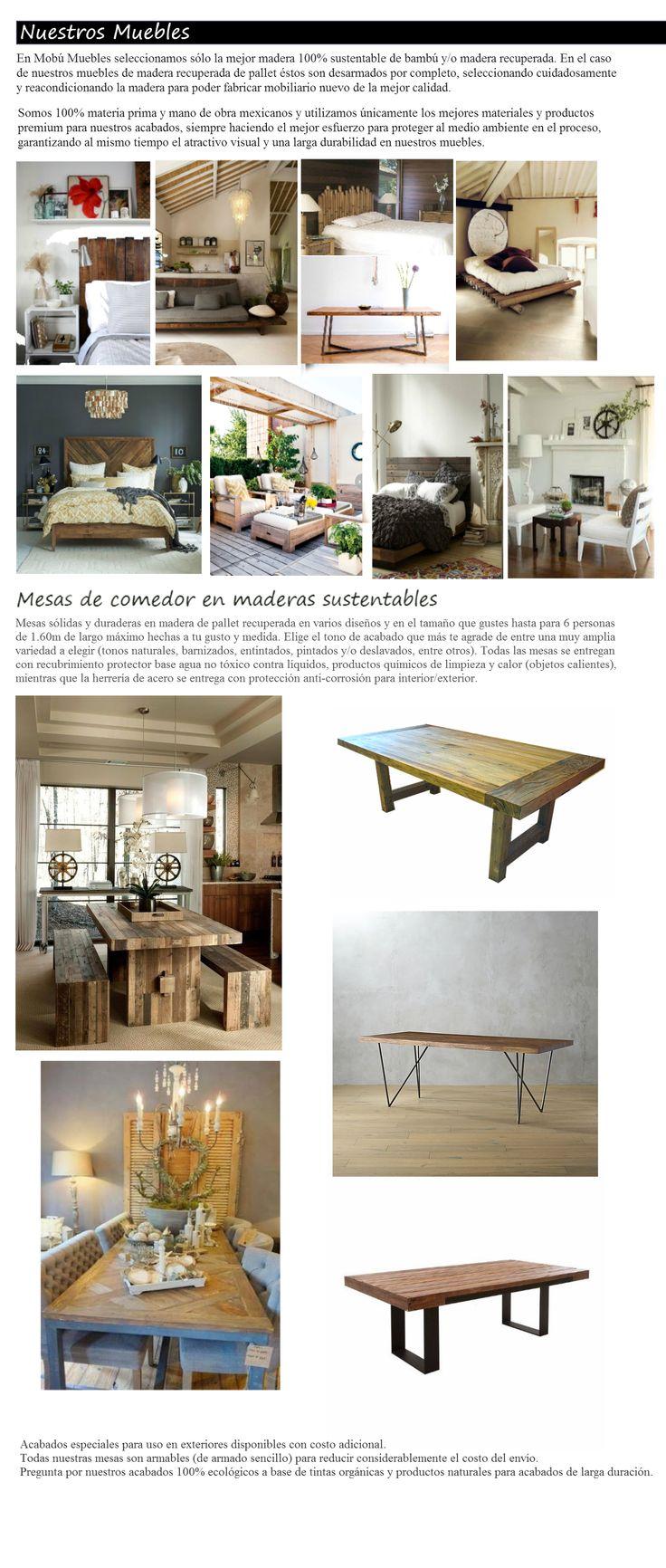 Mesas Comedor R Sticas Vintage Sustentable Atu Medida 6 Pers  # Muebles Sustentables Df
