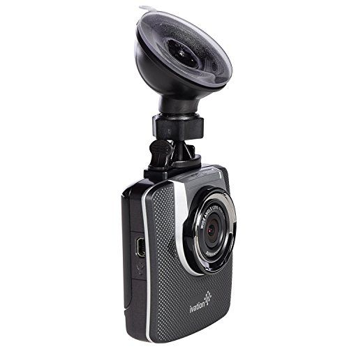 Ivation Dash Cam, 32GB HD 1296p Video, GPS & Audio Recorder, Wide Angle Lens, Motion Detection, G-Sensor, Low Light Dashcam, Best Dashboard Camera for Car & Truck (Includes Extra Dash Mount) | Best Dashboard Camera