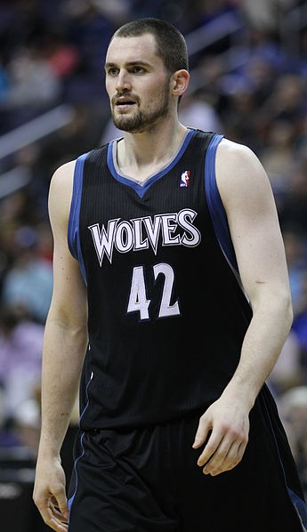 September 7, 1988 - Kevin Love  is an American professional basketball player for the Minnesota Timberwolves of the National Basketball Association (NBA). The two-time All-Star is one of the top rebounders in the NBA, and he holds the longest streak for consecutive games recording double figures in points and rebounds since the merger between the American Basketball Association (ABA) and the NBA. The Associated Press called Love the new face of the Timberwolves franchise.