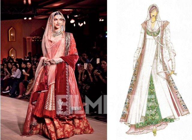 Costume designer Anju Modi tells us how the costumes of Bajirao Mastani will create a history of its own...... A sketch of Deepika Padukone's costume