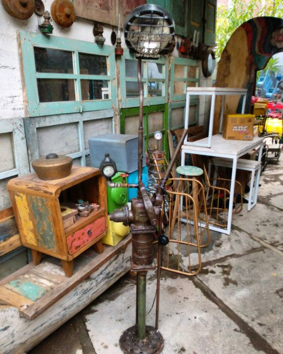 Check out this item in my Etsy shop https://www.etsy.com/listing/267319408/vintage-industrial-lamp-handmade-from