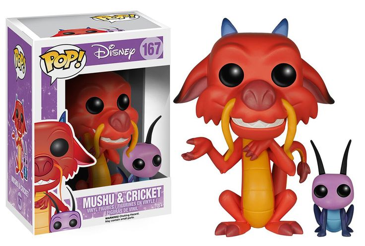 Mushu and Cri-Kee Pop! Vinyl