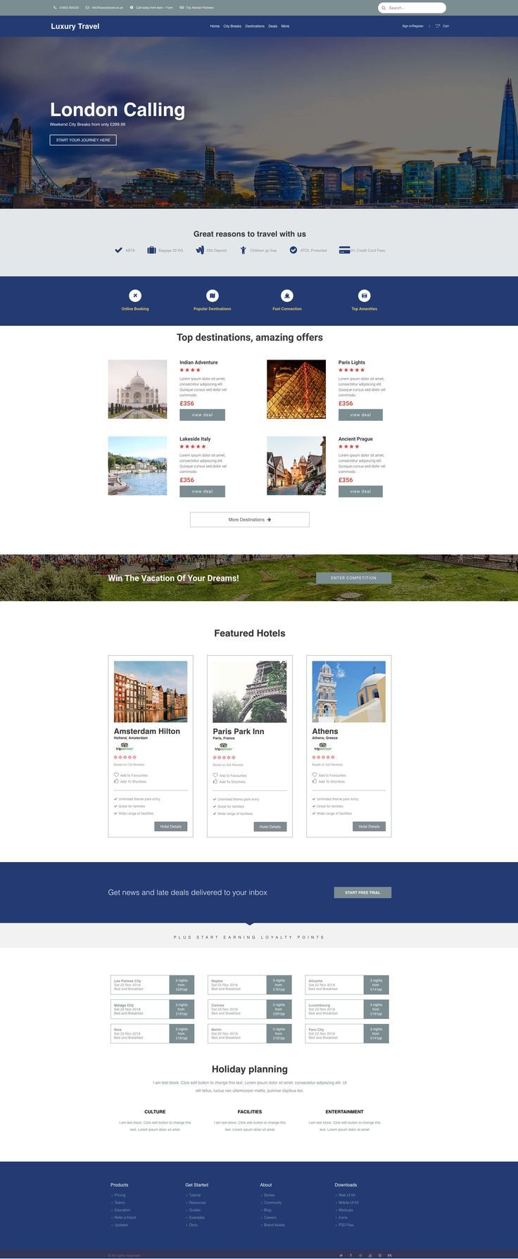 Web And App Design For A Travel Website Template Web App Design Web Design App Design