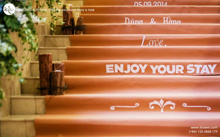 Appreciate guests for every step toward the wedding reception.