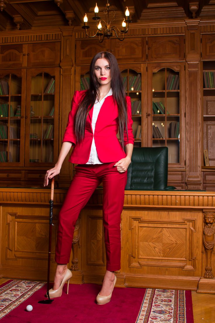 Office style in red colour