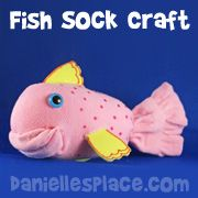 Sock fish Craft... and other sock crafts on this page