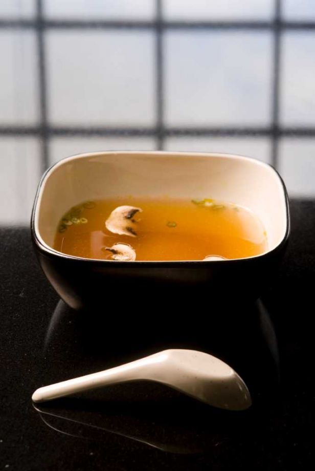 Clear Onion Soup at Kobe's Japanese Steakhouse is a harbinger of great things to come. Photo: Photo By Robin Jerstad/Special To The Express-News / Copyright 2011 by Robin Jerstad