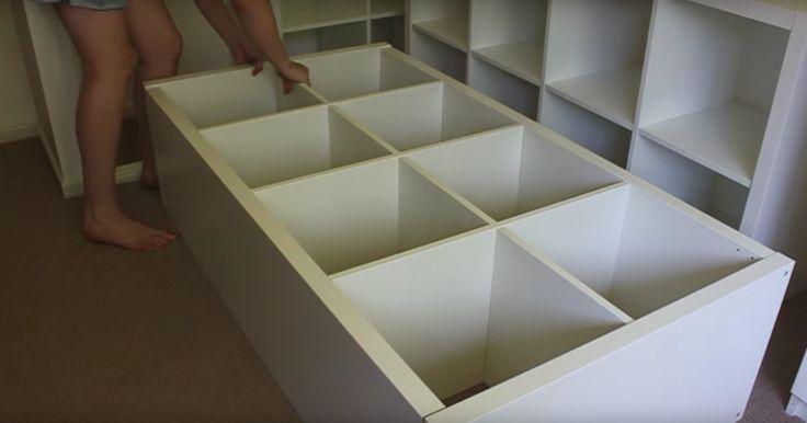 Så förvandlar du Ikea-hyllor till en smart säng.