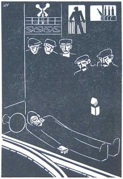 Johan van Hell - 'Ongeval', ong. 1925 (houtsenede)