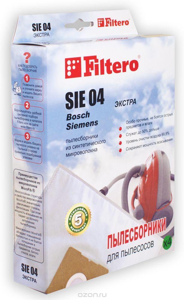 Filtero SIE 04 Экстра мешок-пылесборник для Bosch и Siemens, 4 шт - купить в интернет-магазине по лучшей цене. Пылесборник с быстрой доставкой от OZON.ru - Выбирайте!