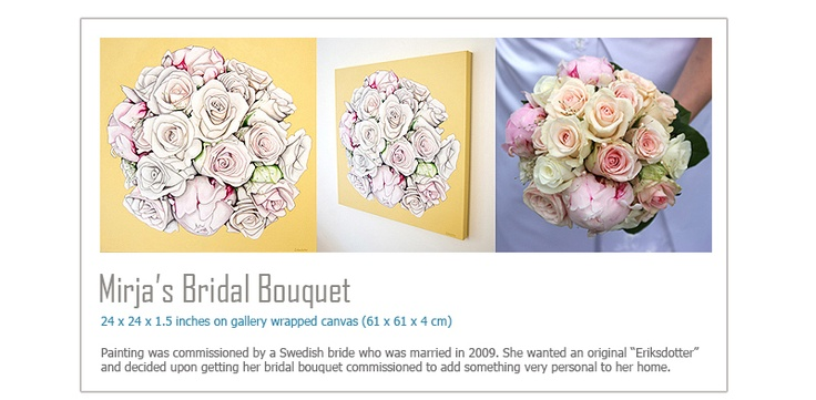 Turn your bouquet into a work of art.