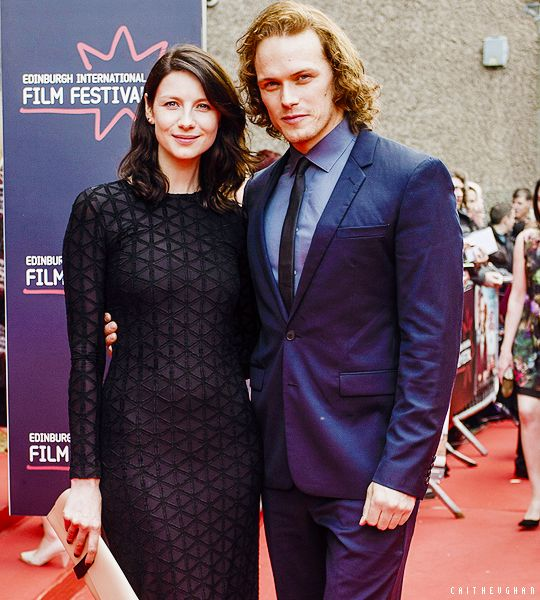 caitheughan: Caitriona Balfe and Sam Heughan attend the 2015 Edinburgh International Film Festival