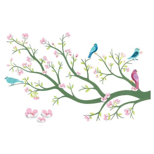 Djeco 3D wallsticker, Kirsebærtræ