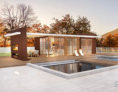 """Check out new work on my @Behance portfolio: """"house with pool"""" http://be.net/gallery/62477075/house-with-pool"""