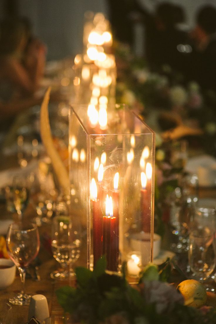 Candlelit wedding dinner; PHOTOGRAPHY Joel + Justyna Bedford;