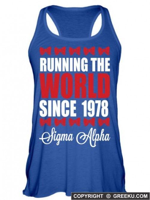Sigma Alpha Running The World Lightweight Flowy Tank