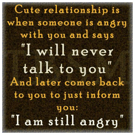 Cute relationship is w...