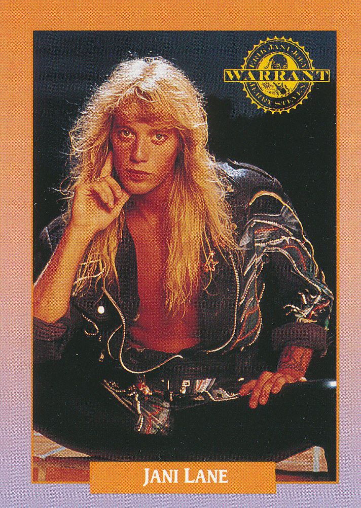 Jani Lane of Warrant - 1991 RockCards #217