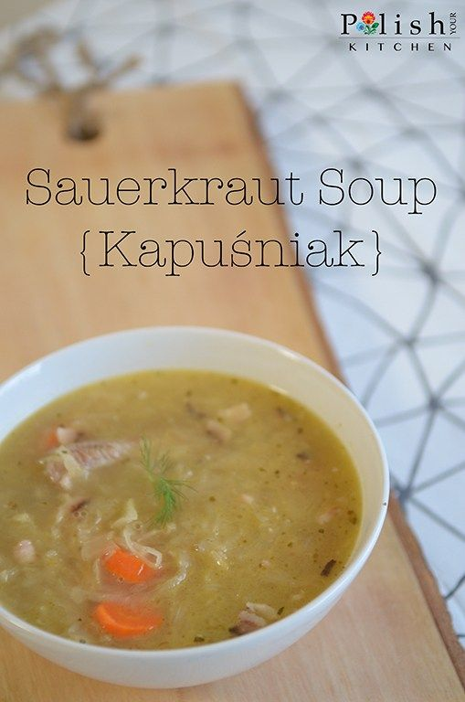 Busy Chef's Sauerkraut Soup – Kapuśniak na Szybko My kitchen is here!!! We are now moved. It was a long transition from the hot and tropical Hawaii to snowy Pennsylvania, but we're settling i…