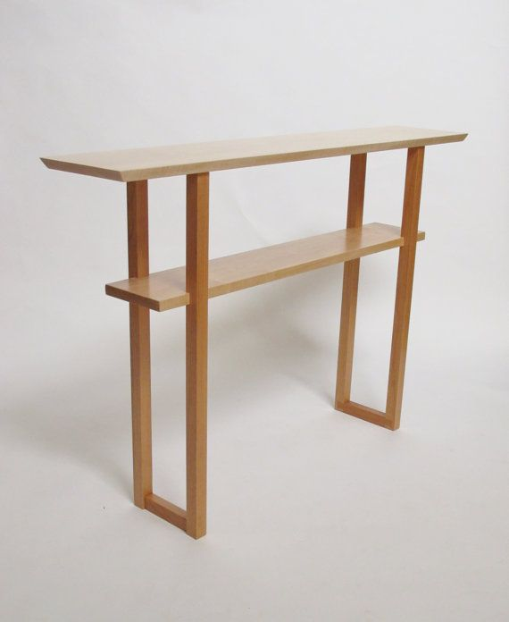 127 best images about a narrow table on pinterest live for Narrow console table with shelves