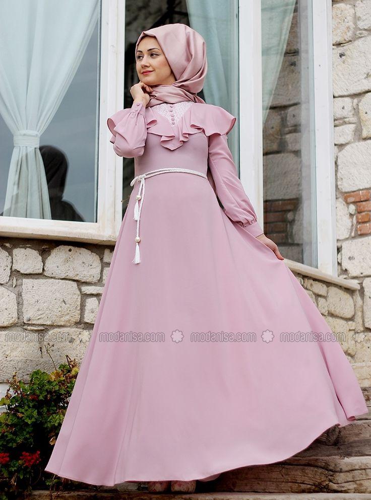 Matmazel Abiye Elbise - Pudra - Minel Aşk