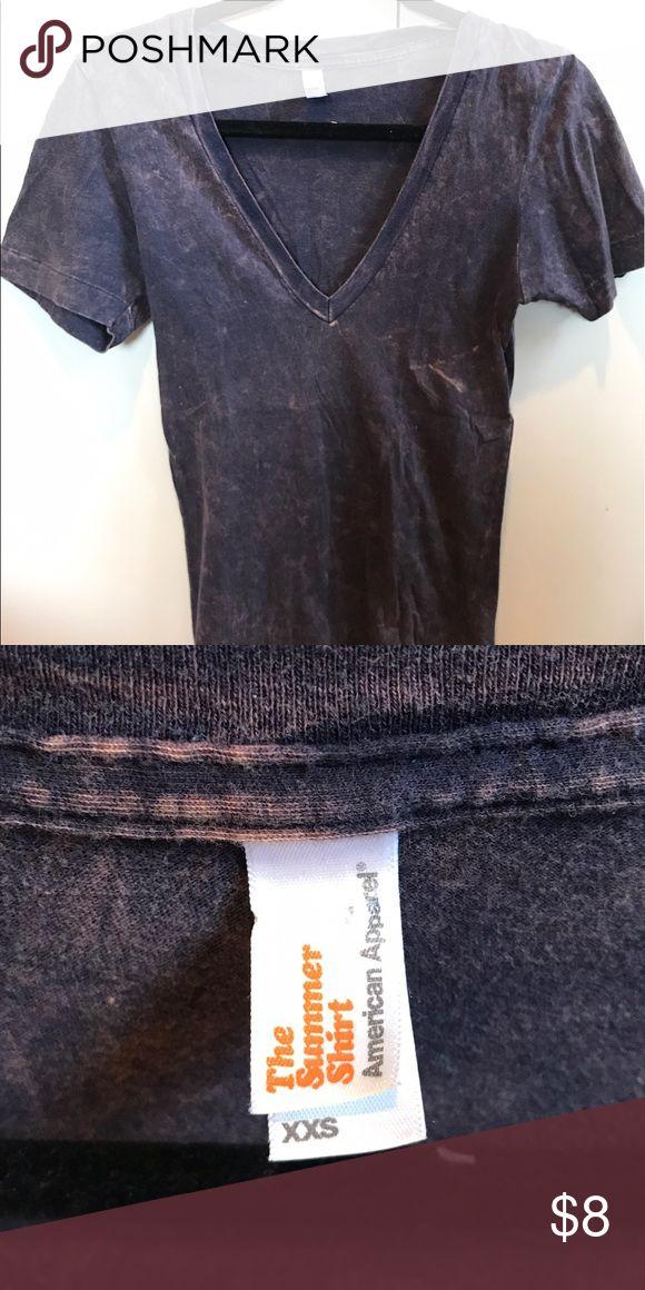 American Apparel Navy Washed VNeck Tshirt American Apparel Navy Washed VNeck Tshirr American Apparel Tops Tees - Short Sleeve