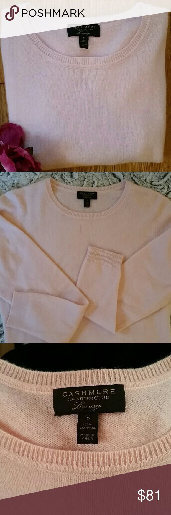 NWOT Charter Club 100% Cashmere Sweater Sooooo soft! The color shown is true to the actual color. Can you imagine how cute you'll look wearing this little number? Own it! Charter Club Sweaters
