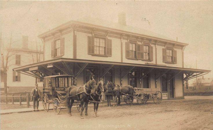 Flemington NJ Central Railroad Depot 1910
