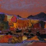 Carol Nelson|Mixed Media Southwest Abstract Landscape, Tucson Vibe , by International Mixed Media Abstract Artist Carol Nelson