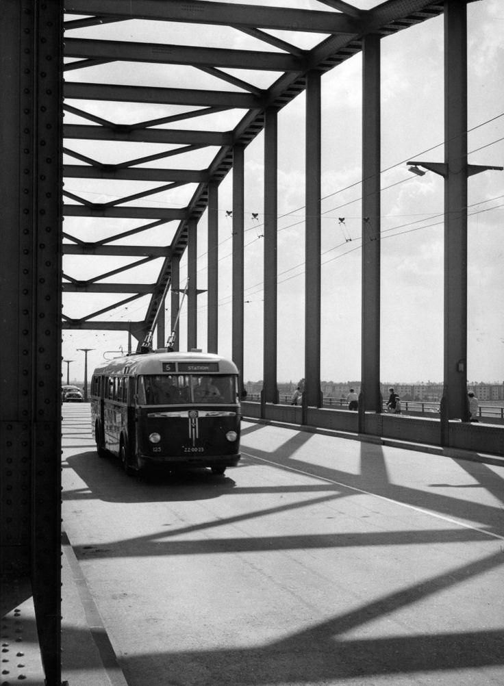Arnhem, Rijnbrug 1953.
