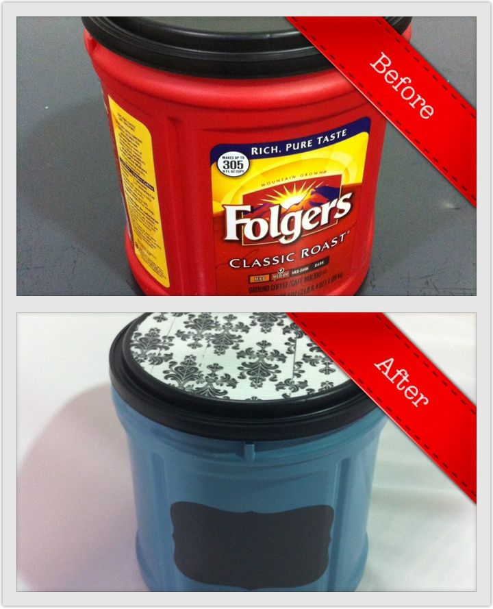 25 Unique Plastic Coffee Containers Ideas On Pinterest Cans And Folgers Container
