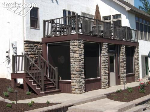 Screen In Porch Using Brick Columns Cottage Ideas