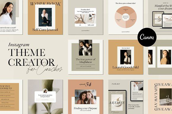Instagram Creator For Coaches Canva In 2020 Instagram Creator Instagram Theme Instagram Template