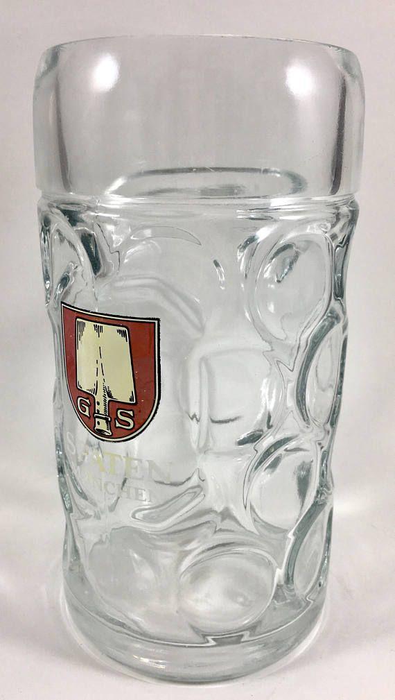 Vintage G S Spaten München Beer Mug  Beer Stein Thick Dimpled