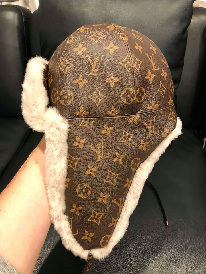 NWT Louis Vuitton Chapkalaska Chapeau Brown Monogram LV Logo Beige Fur Hat  Small  LouisVuitton  Ski  Fashion 2def2e576d5
