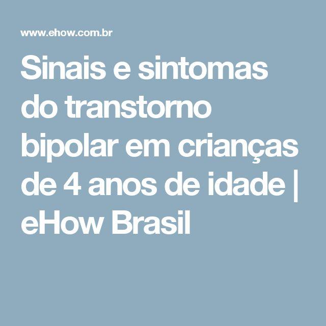 Sinais e sintomas do transtorno bipolar em crianças de 4 anos de idade | eHow Brasil
