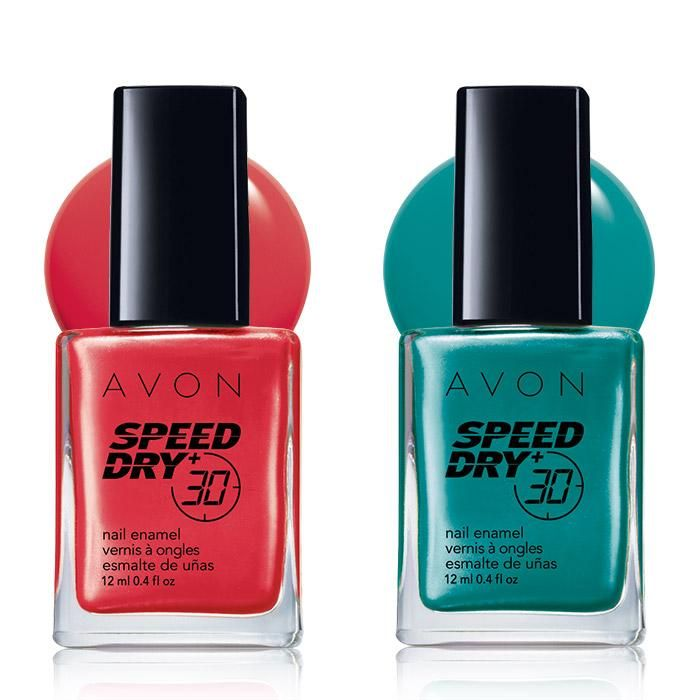 From wet to WOW in 30 seconds!  A $14 value the Speed Dry  Nail Duo in Red and Teal includes:• Speed Dry  Nail Enamel in Red Red - .4 fl. oz. $7 Value• Speed Dry  Nail Enamel in Fast Time Teal - .4 fl. oz. $7 Value