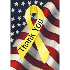To the men and women of the United States Armed Services, of all generations, who fought to make this a better and safer world...: Blessed America, Yellow Ribbons, Patriots Decor, Veterans Day, Gardens Flags, God Blessed, Holidays Decor, American Dreams, Troops