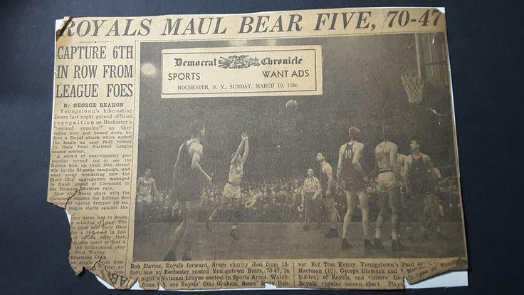 Championship Rochester Royals- Bob Davies, Bob Fitzgerald, Otto Graham.