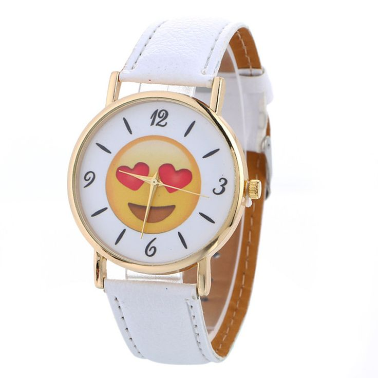 Cheap feminino, Buy Quality feminino relogio Directly from China Suppliers:2017 Cute expression Watches Neutral Simple Leather Quartz WristWatch Relogios feminino Women Fashion watch Relogio Feminino
