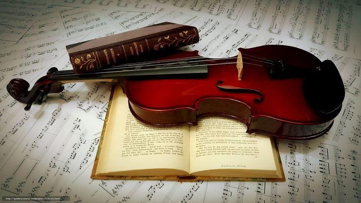 Скачать обои книги,  скрипка,  ноты бесплатно для рабочего стола в разрешении 3840x2160 — картинка №628125